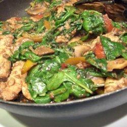 Stir Fry- Chicken With Lemon Mushroom Ginger Sauce recipe