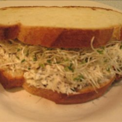 Cream Cheese, Black Olive, Walnut & Sprout Sandwiches recipe