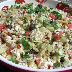 Greek Orzo Artichoke Salad recipe