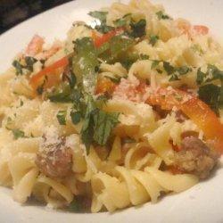 Italian Sausage and Pepper Rotini recipe