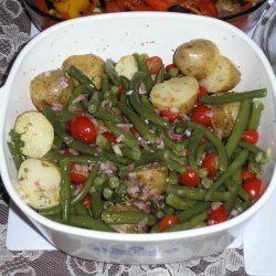 Provencial Style Potatoes and Green Beans recipe