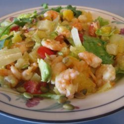 Shrimp, Mango and Avocado Salad W/ Passion Fruit Vinaigrette recipe