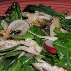 Clean Eating Sesame Spinach Salad With Chicken recipe