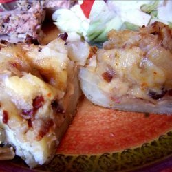 Onion Bacon Cheese Stuffed Baked Potatoes recipe