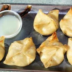 Baked Crab Rangoon With Thai Ginger-Lime Dipping Sauce recipe