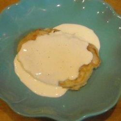 Pina Colada Pancakes with Rum Sauce recipe