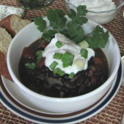 Black Bean Soup With Cumin and Jalapeno recipe