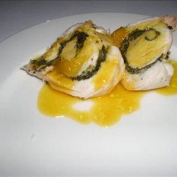 Minted Chicken With Sweet Orange Sauce recipe