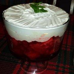 Christmas Cherry Trifle Dessert recipe