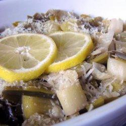 Parmesan Leeks recipe