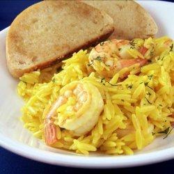 Shrimp With Saffron Orzo recipe
