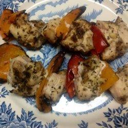 Lemon Oregano Chicken Skewers recipe