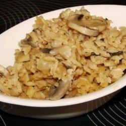 Mushroom and Rice Bake recipe