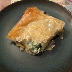 Greek Spinach Pie (Spanikopita) recipe