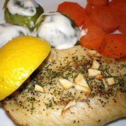 Salmon or Tuna Steak With Garlic and Parsley recipe