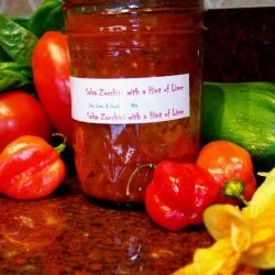 Salsa With  Zucchini With a Hint of Lime recipe