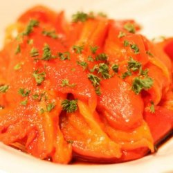 Roasted Red Bell Peppers With Sherry Vinegar recipe
