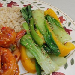 Baby Bok Choy With Yellow Bell Peppers recipe