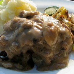 Salisbury Steak With Mushroom Sauce for 2 recipe