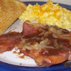 Apple Ham Steak recipe