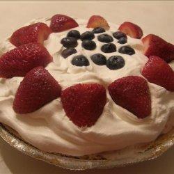 Red, White, and Blue Ice Cream Pie recipe