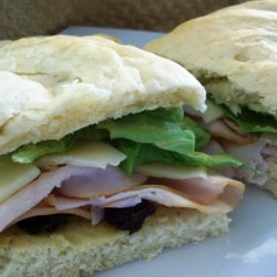 Smoked Turkey Sandwich With Cranberry Butter recipe