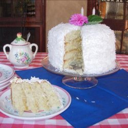 Coconut Layer Cake With Lemon Filling and Marshmallow-Like Frost recipe