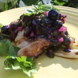Grilled Chicken With Blueberry-Basil Salsa recipe
