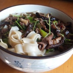 Beef, Black Beans and Rice Noodles With Oyster Sauce recipe