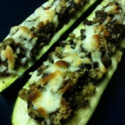 Round 2  - Stuffed Zucchini Boats recipe