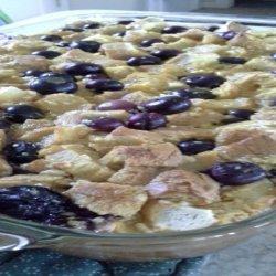 Blueberry Breakfast Bread Pudding recipe