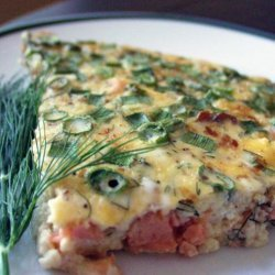 Crustless Smoked Salmon Quiche With Dill recipe