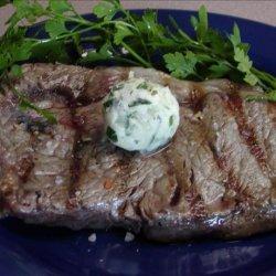 Herbed Butter Rib Eye Steaks recipe
