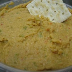 Spicy Red Pepper and Jalapeno Hummus recipe