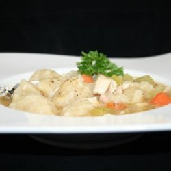 Yummy Chicken Soup With Dumplings recipe