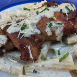 Chicken Breasts over Rigatoni With Gorgonzola Sauce recipe