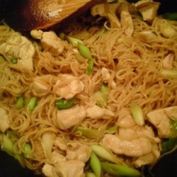 Midweek Chicken, Spring Onion and Noodle Stir Fry recipe
