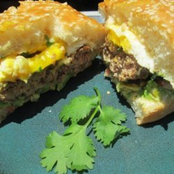 Mexican Burgers With Avocado & Fried Eggs recipe