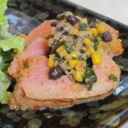 Stuffed Fiesta Pork Tenderloin #RSC recipe