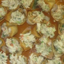 Crab Salad in Crisp Wonton Cups recipe