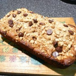 Peanut Butter Banana Chocolate Chip Bread recipe