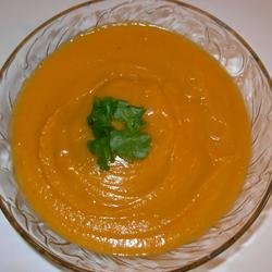Butternut Squash-Sweet Potato Ginger Bisque recipe
