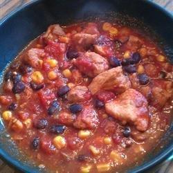 Sweet Pork Slow Cooker Chili recipe