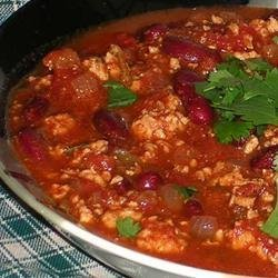 Sarah's Spicy Turkey Chili recipe