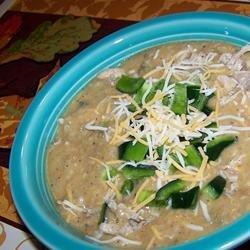 Restaurant-Style Cheesy Poblano Pepper Soup recipe