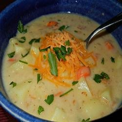 Veggie Cheddar Soup recipe