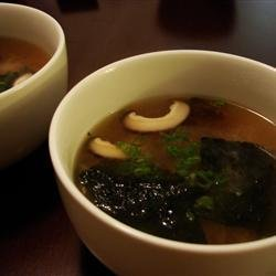 Japanese Soup with Tofu and Mushrooms recipe