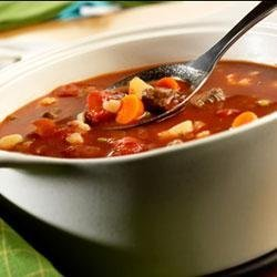 Savory Vegetable Beef Soup recipe