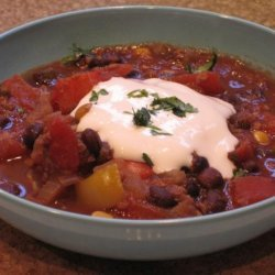 Black Bean Confetti Chili (Vegetarian) recipe