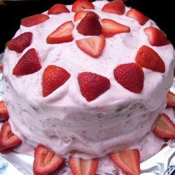 Rich White Cake With Strawberry Frosting recipe